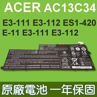 宏碁 ACER AC13C34 原廠電池 適用 Aspire E-11 E3-111 E3-112 ES1-111 台中市
