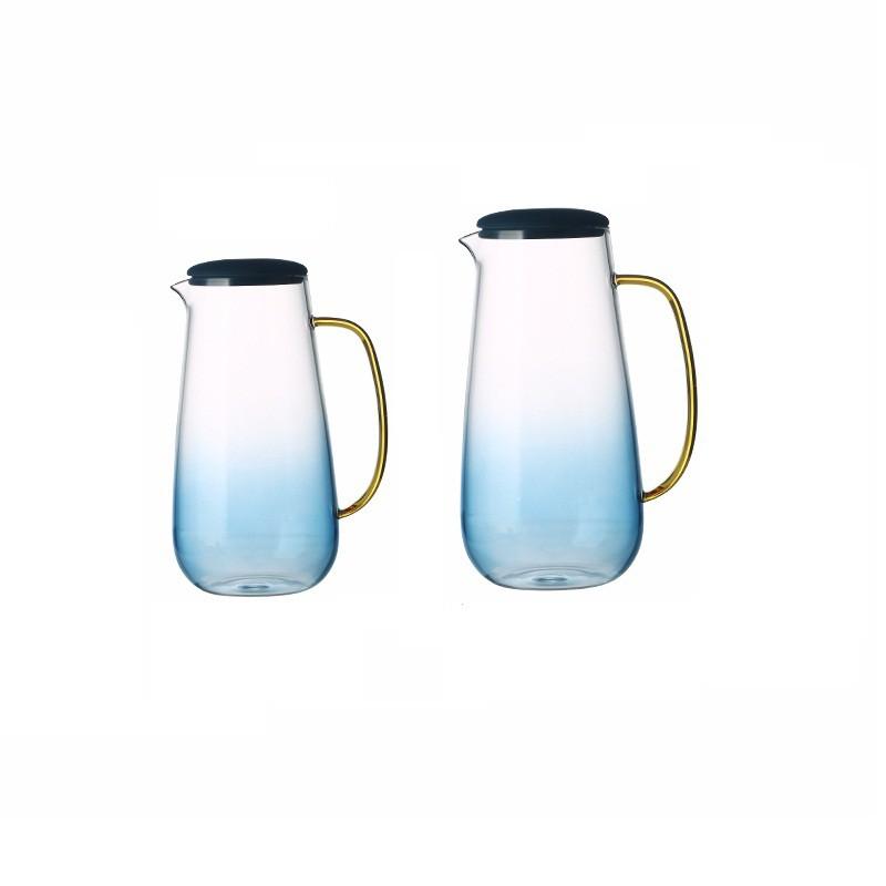 云石玻璃冷水壺涼水壺家用耐高溫大容量涼水杯耐熱防爆涼茶果汁壺