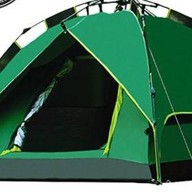 迪卡儂帳篷官方迪卡儂戶外3-4人全自動2人情侶野外露營雙層加厚防雨雙人野營 JAU8