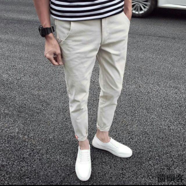#韓版9分窄管褲