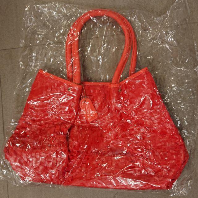Xantia桑緹亞 紅色編織包
