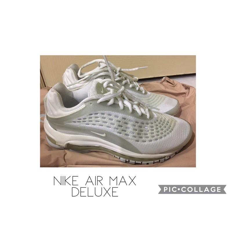 Nike ✔️AIR MAX DELUXE ✨編號av2589-100 二手女鞋 #反光 #復古#氣墊慢跑鞋23.5cm