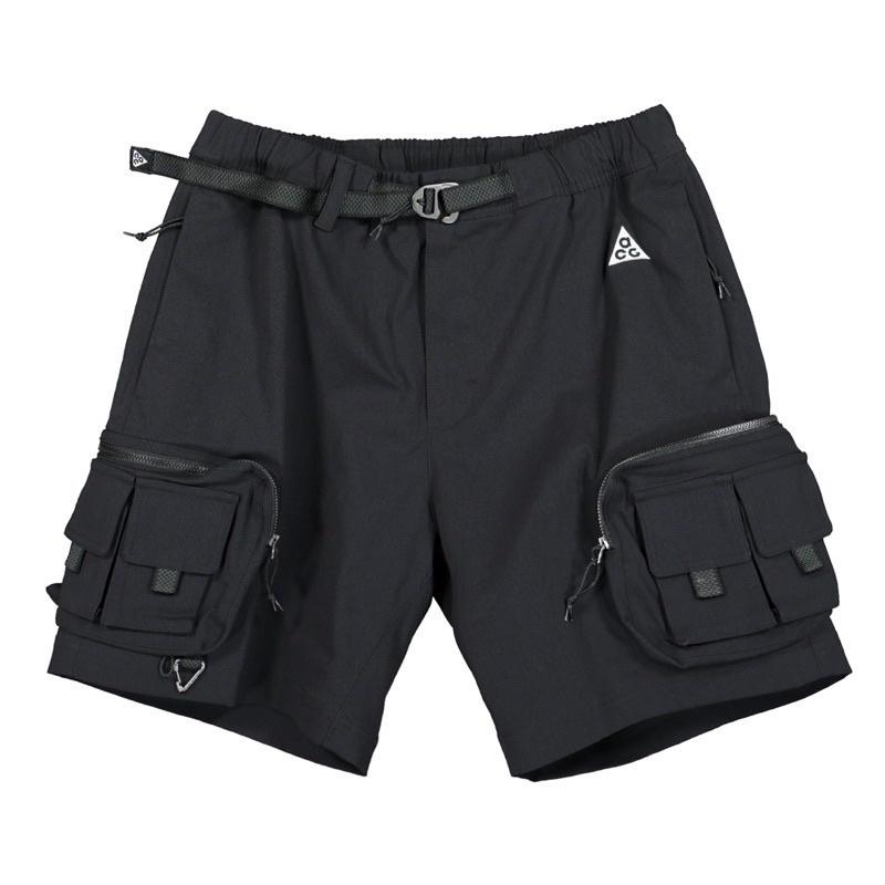 {黑色-現貨販售}Nike ACG 2021新款 工作短褲 機能 多口袋 防潑水 軍事 Military Outdoor