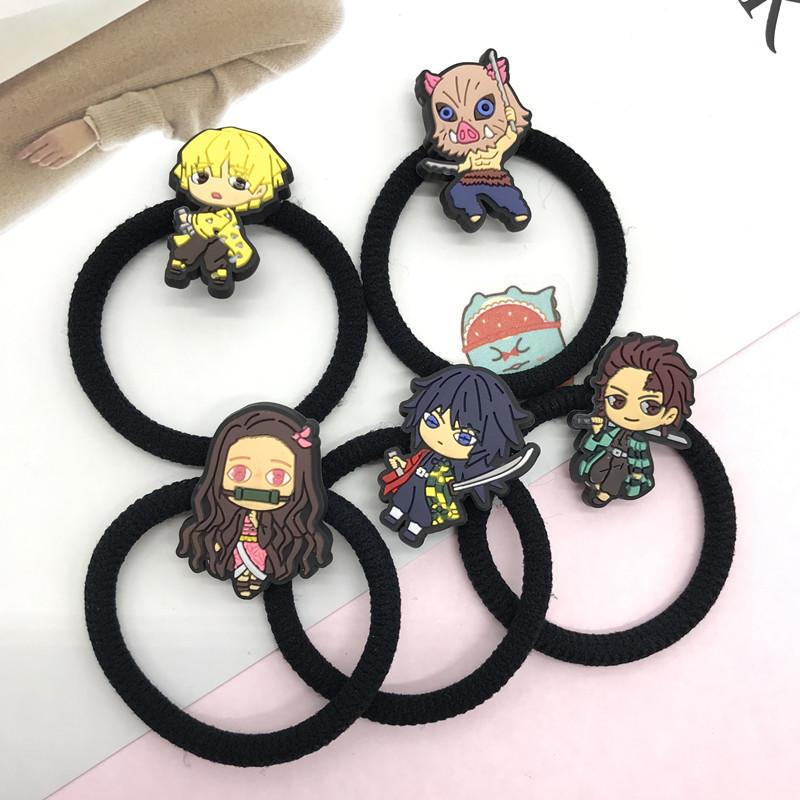 現貨 鬼滅之刃 髮繩 髮圈 頭繩 髮飾 日本 卡通 橡皮筋 女生髮繩 兒童髮圈