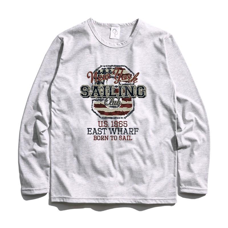 ONE DAY 台灣製 884C46 薄長素T 素長T 長T 男生長袖T恤 大學T恤 男生T恤 T恤 大學T