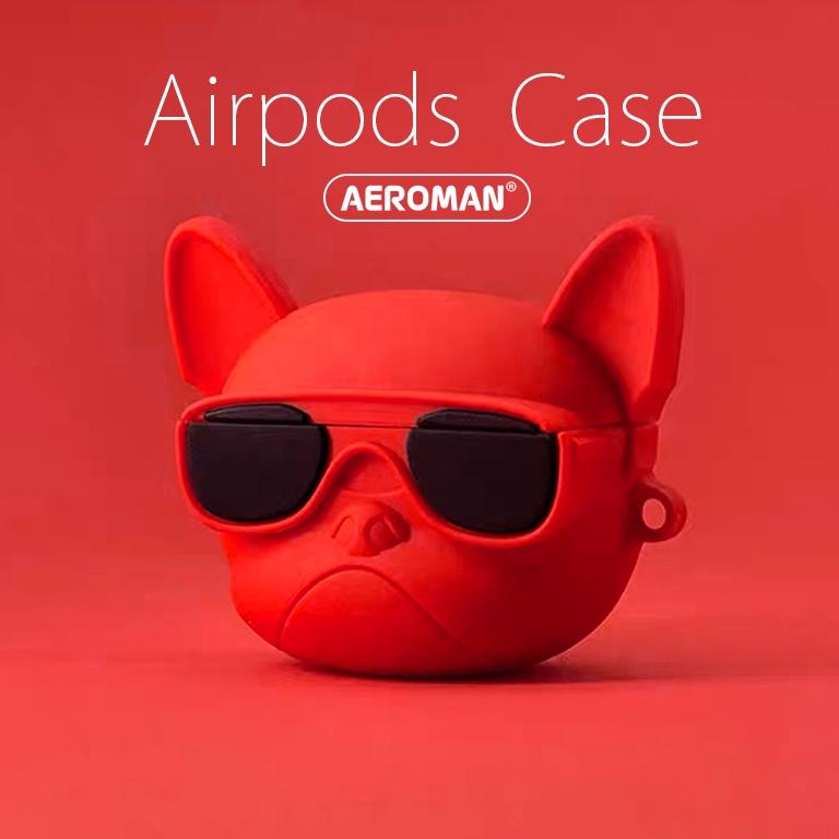 airpods pro 保護套 鬥牛犬 3代 法鬥 法國 黑 紅 白色 科基 科基犬 嘻哈 柴犬 秋田