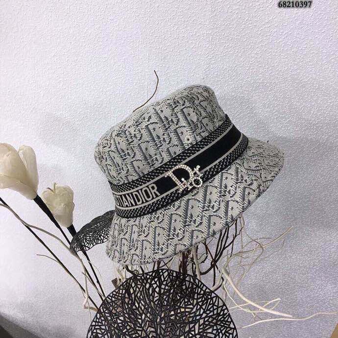 二手 正品 Dior迪奧2021新款織帶漁夫帽爆款漁夫
