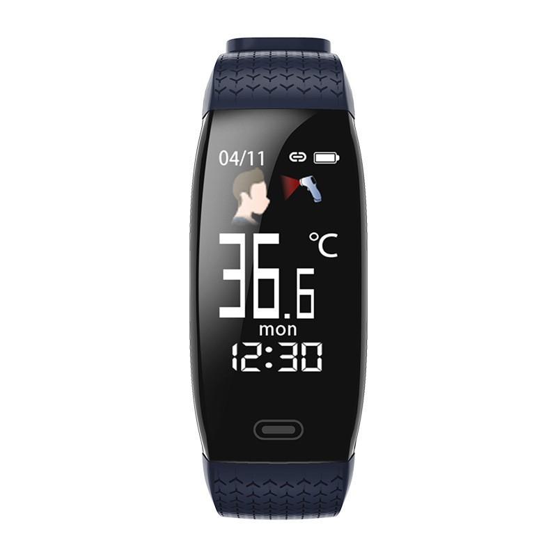 爆款日本進口【 】T5智能手環 實時體溫 心率血壓 血氧 藍牙運動計步 信息提醒 心率手環 運動手環 智慧手錶 智能手環