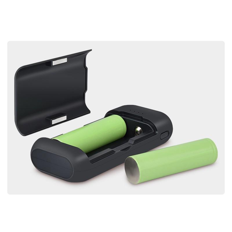USB Type-C 直流充電空盒 2節18650鋰電池充電器 行動電源 2A輸出入 DIY免焊免拆 防反接 磁吸蓋