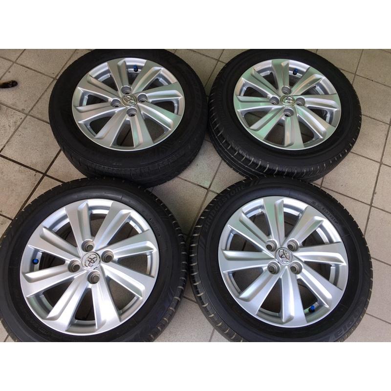 圈99新 豐田 yaris原廠 4孔100 15吋鋁圈含輪胎 VIOS TERCEL CORONA COROLLA