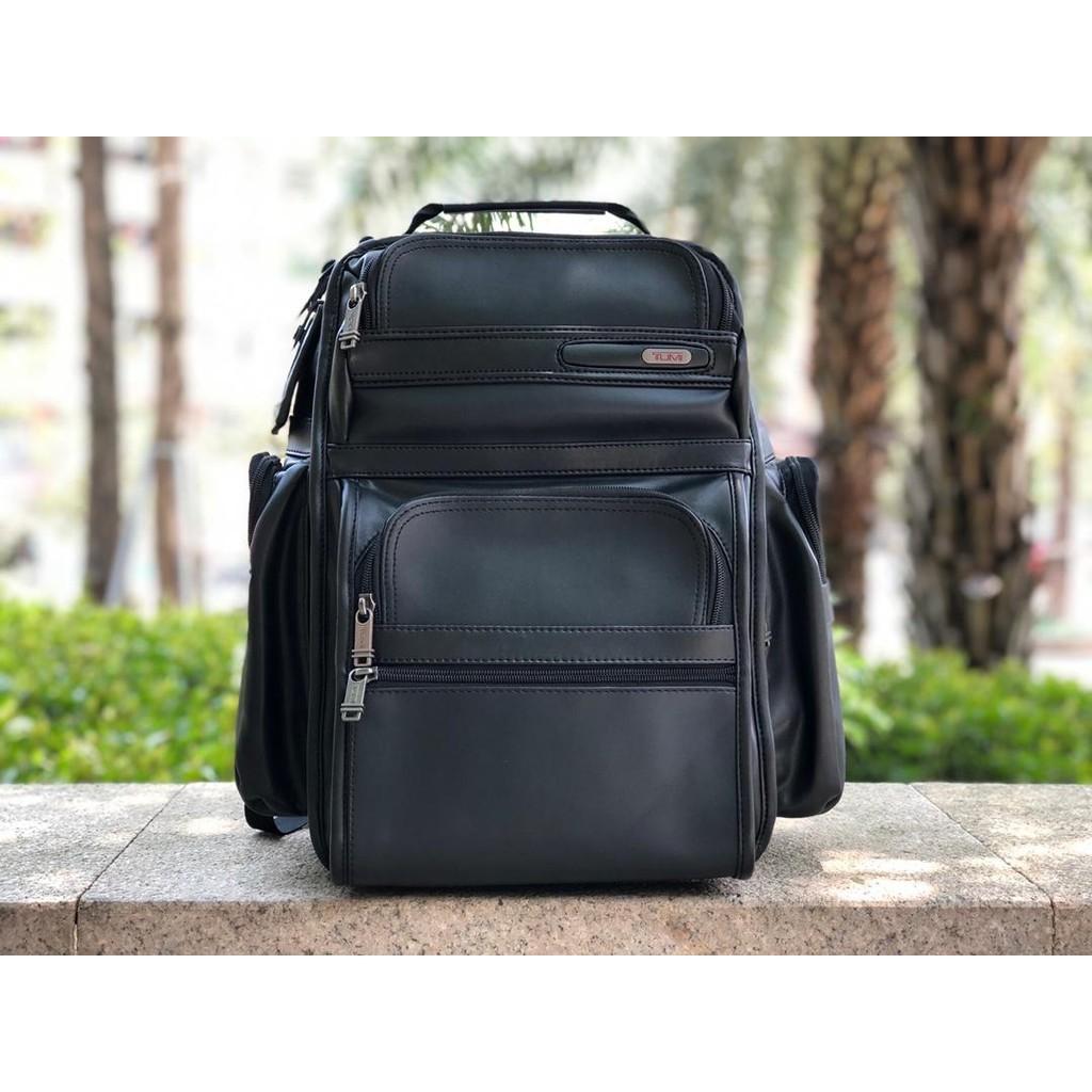 【包の范特西】TUMI 963578D4 全真皮男士商務旅行雙肩背包 大容量 筆記本隔層 多功能後背包手提包