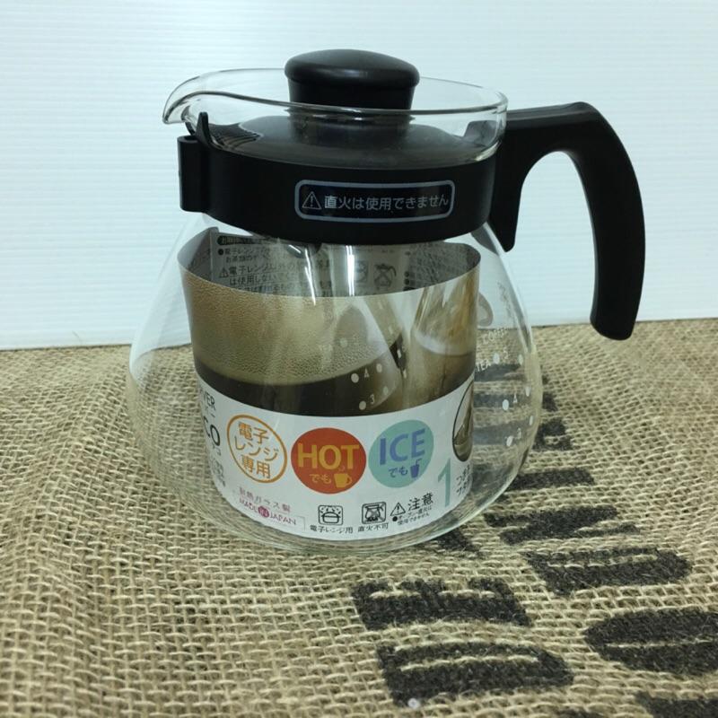 超值特價 買一送一【日本 HARIO】泡茶咖啡兩用 耐熱玻璃壺1000ml(TC-100B) 微波爈可用
