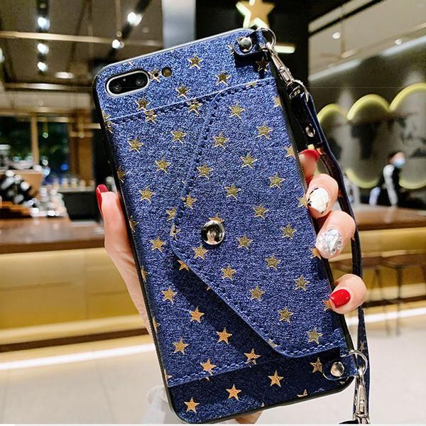 三星 Note20 Ultra Note10 Lite Note10+ 手機殼 滿天星 插卡殼 長掛繩