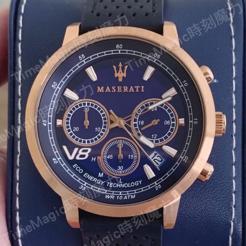 【歐美代購】MASERATI 瑪莎拉蒂光動能計時手錶-GT系列(R8871134003)