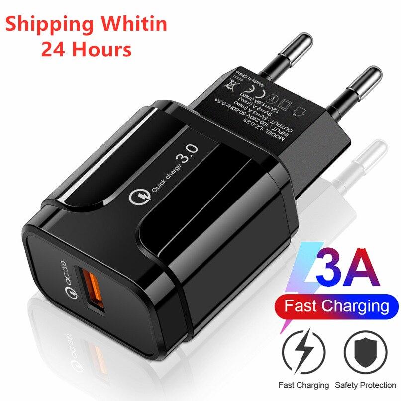Quick Charge 3.0 Usb 充電器 18w Qc 3.0 4.0 快速充電器 Usb 便攜式充電手機充電器