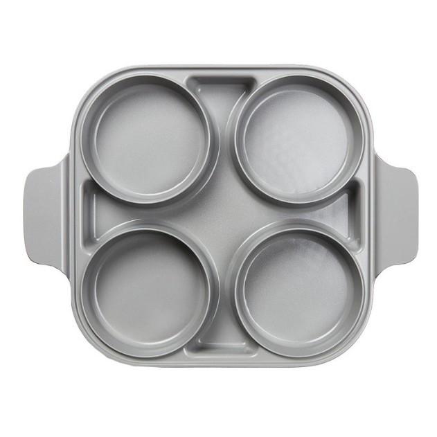 【宅配免運費】Neoflam 雙耳四格多功能煎鍋含蓋 28 公分  #124266