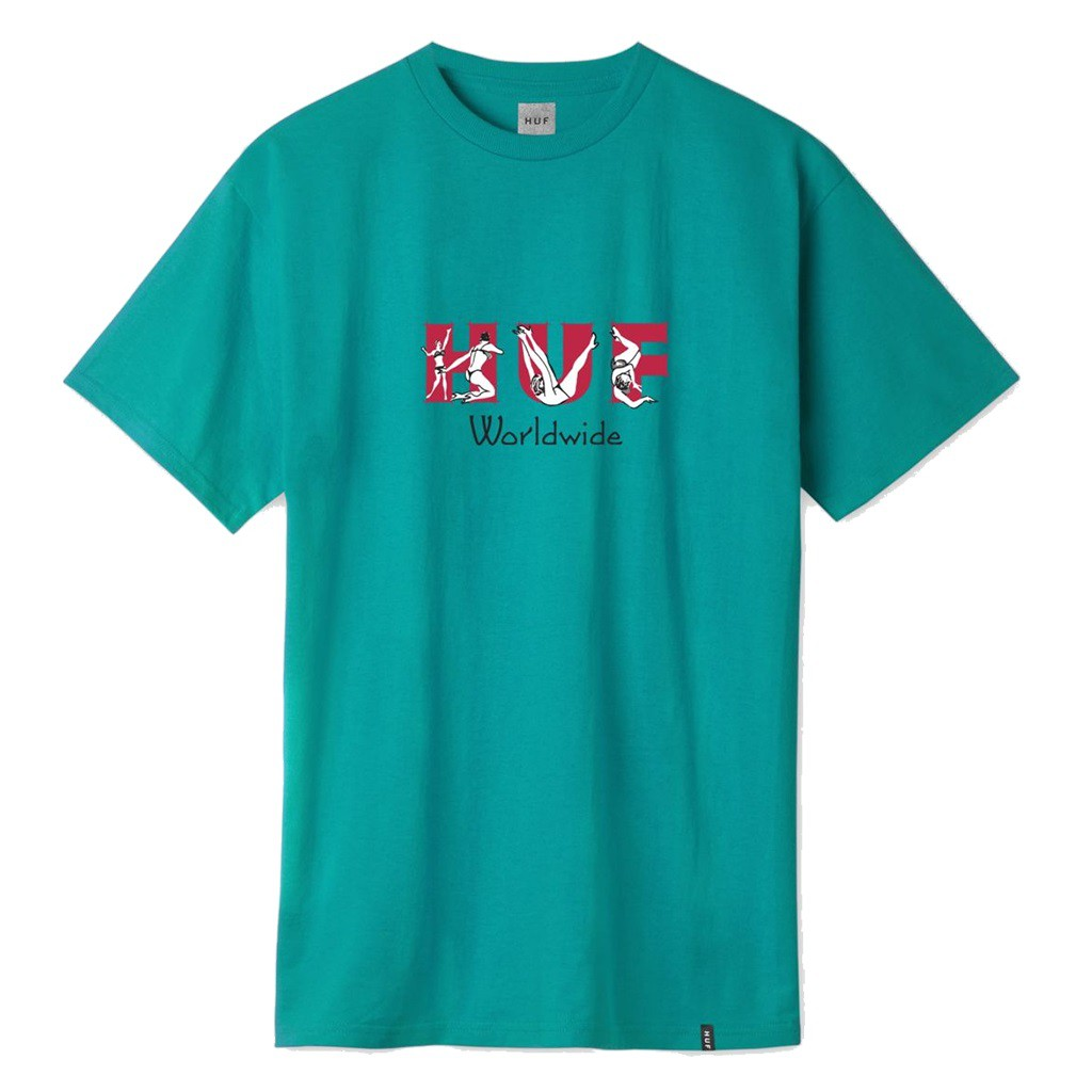 HUF FREAKS TEE BISCAY BLUE 短T 藍綠【A-KAY0 5折】【TS00716BBAY】