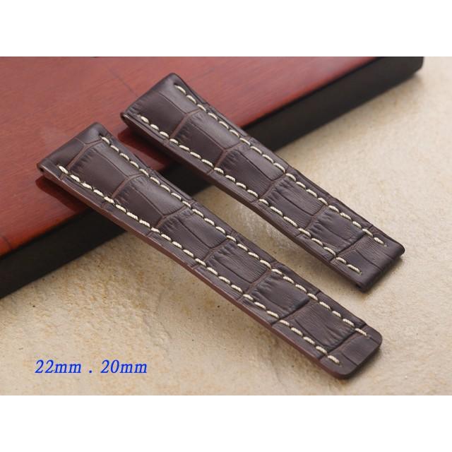 【時間探索】進口 加厚 BREITLING 百年靈代用錶帶-摺疊扣款 ( 24mm.22mm.)