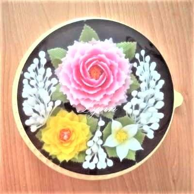 8吋果凍花蛋糕---芙蓉花