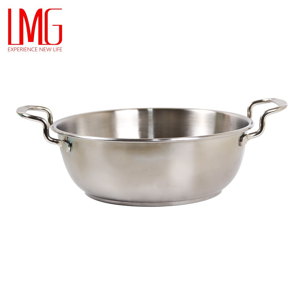 (兩入組)【LMG】304不鏽鋼小資泡麵鍋 湯鍋19cm-兩入組