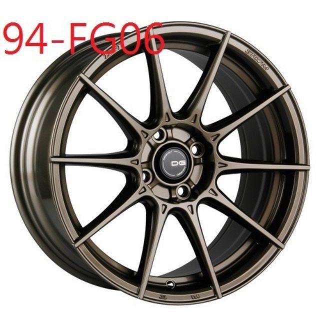 DG FG06 17吋4孔100古銅金旋壓輕量鋁圈~FIT YARIS K6K8 (起標價非實際售價 請洽詢)