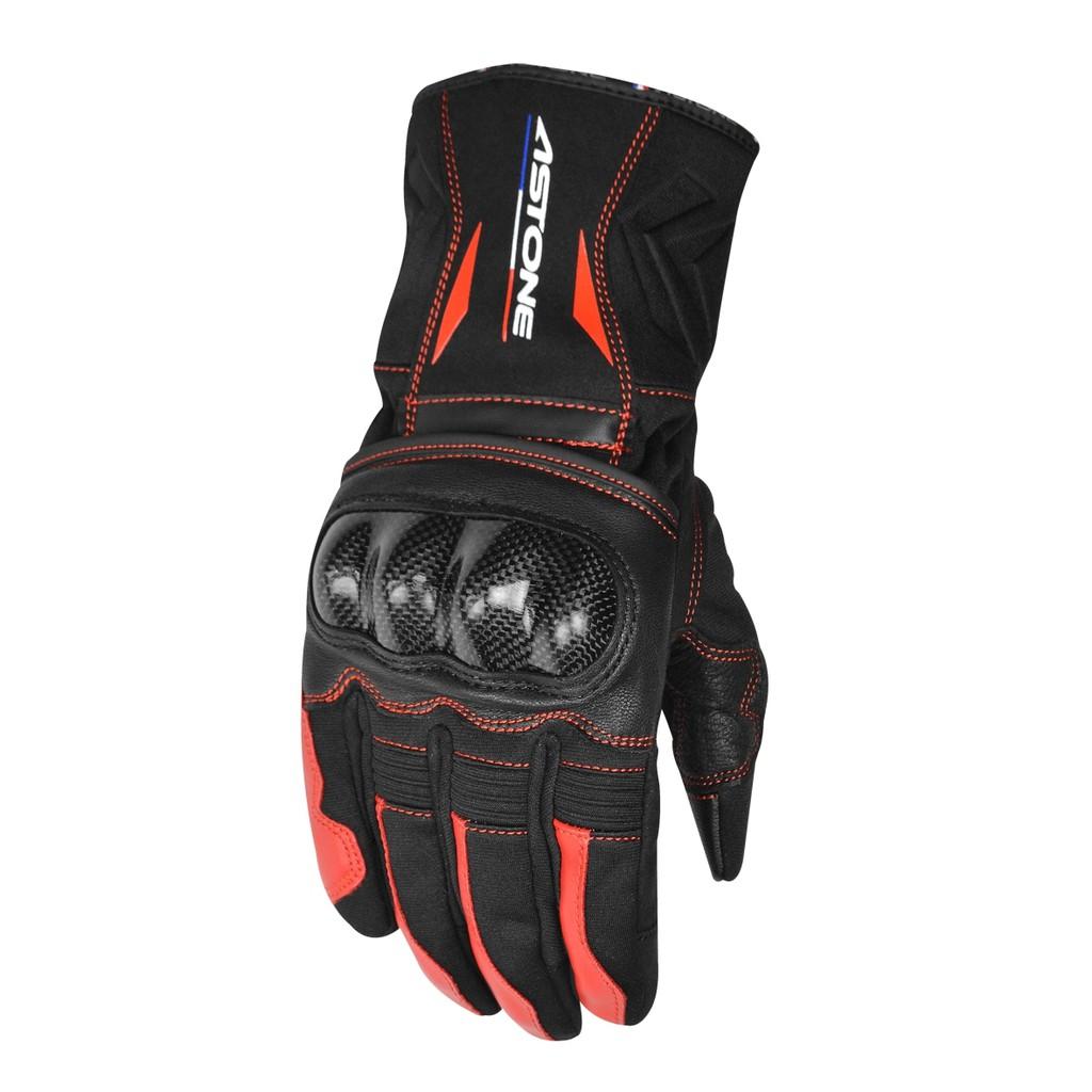 【ASTONE】GC01(黑紅)全防禦碳纖手套