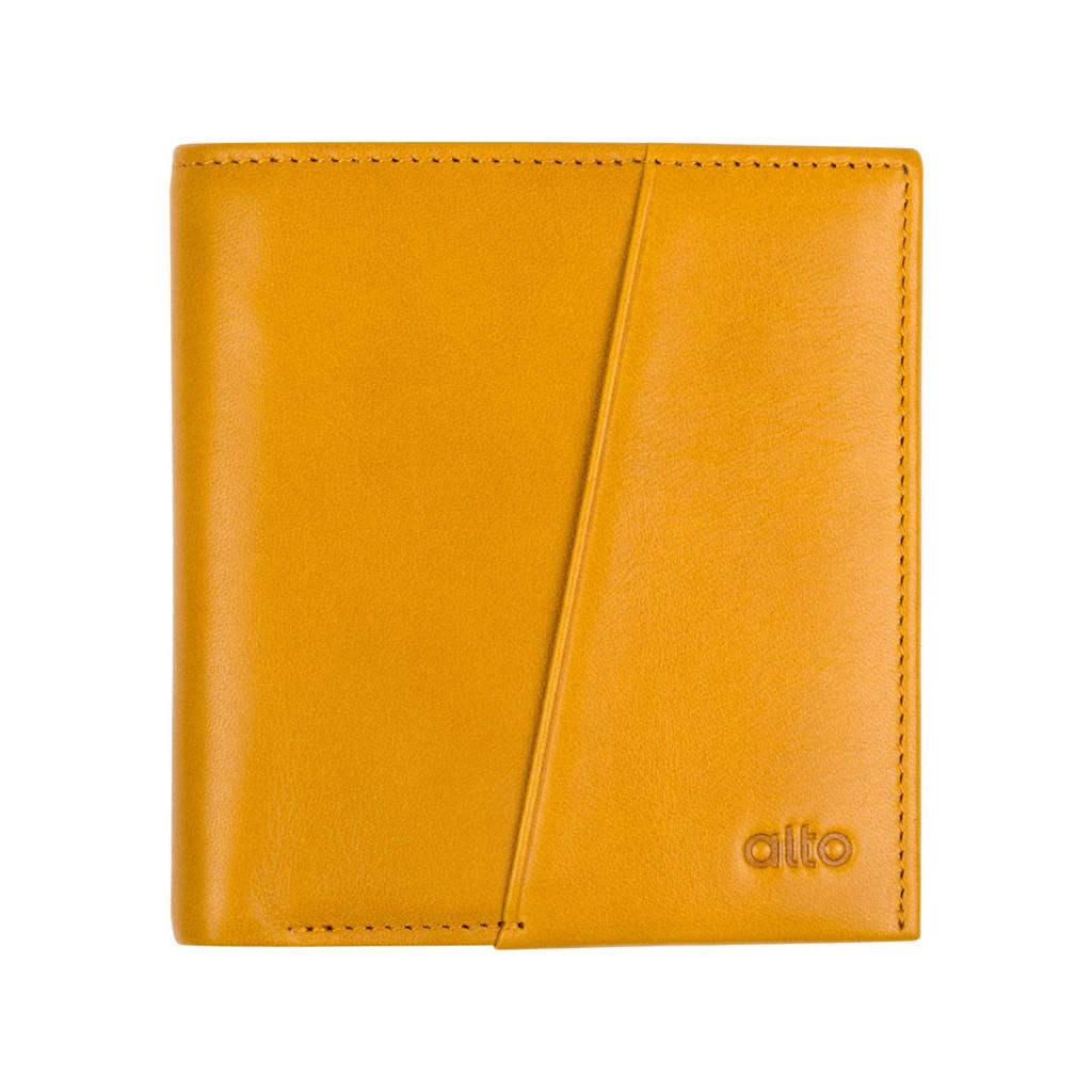 alto RFID 輕薄皮夾 – 焦糖棕【可加購客製文字雷雕】皮革 真皮 短夾 錢包