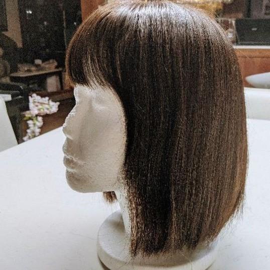 C.Y.S醫療級假髮#短髮#全罩式#咖啡#真髮 原價30000多