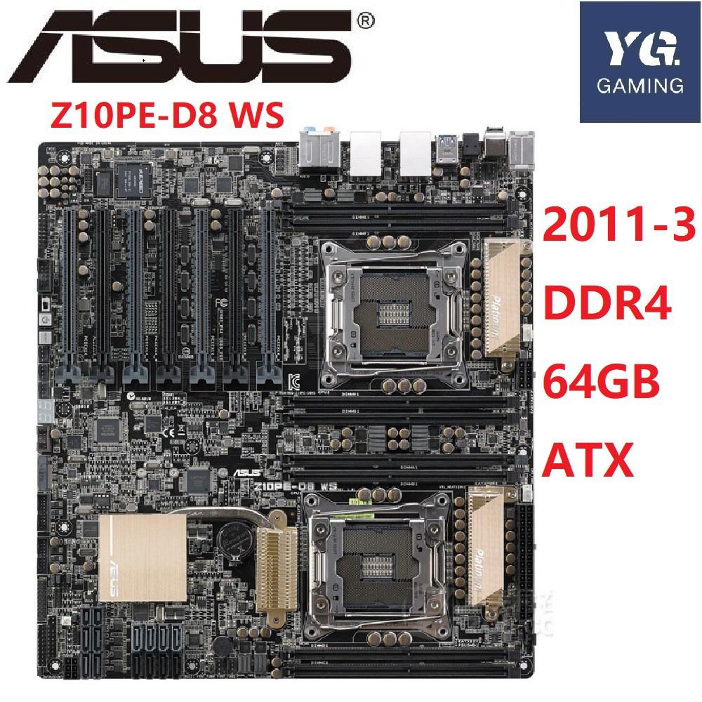 二手 Asus/華碩 Z10PE-D8 WS 雙路工作站游戲主板 X99 C612 4卡SLI交火