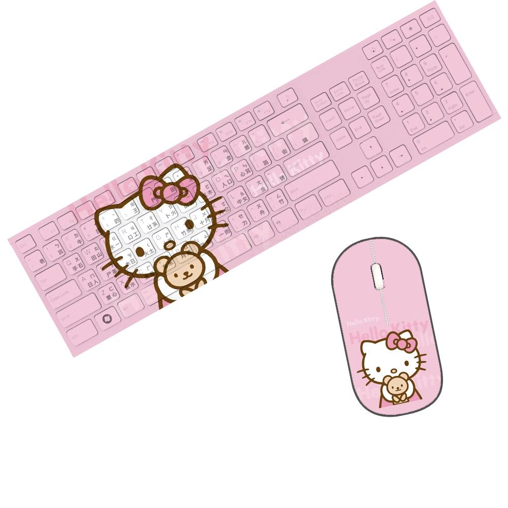 火丶helloKitty貓臺灣香港 注音倉頡碼辦公游戲 有線鍵盤無線鼠標