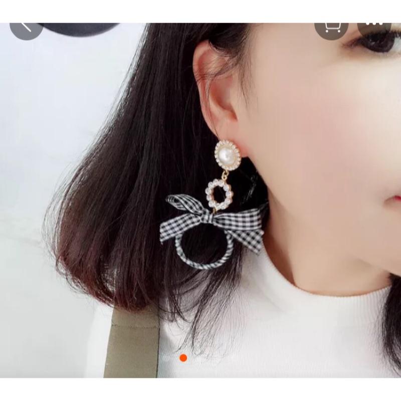 蝴蝶結圓環耳環