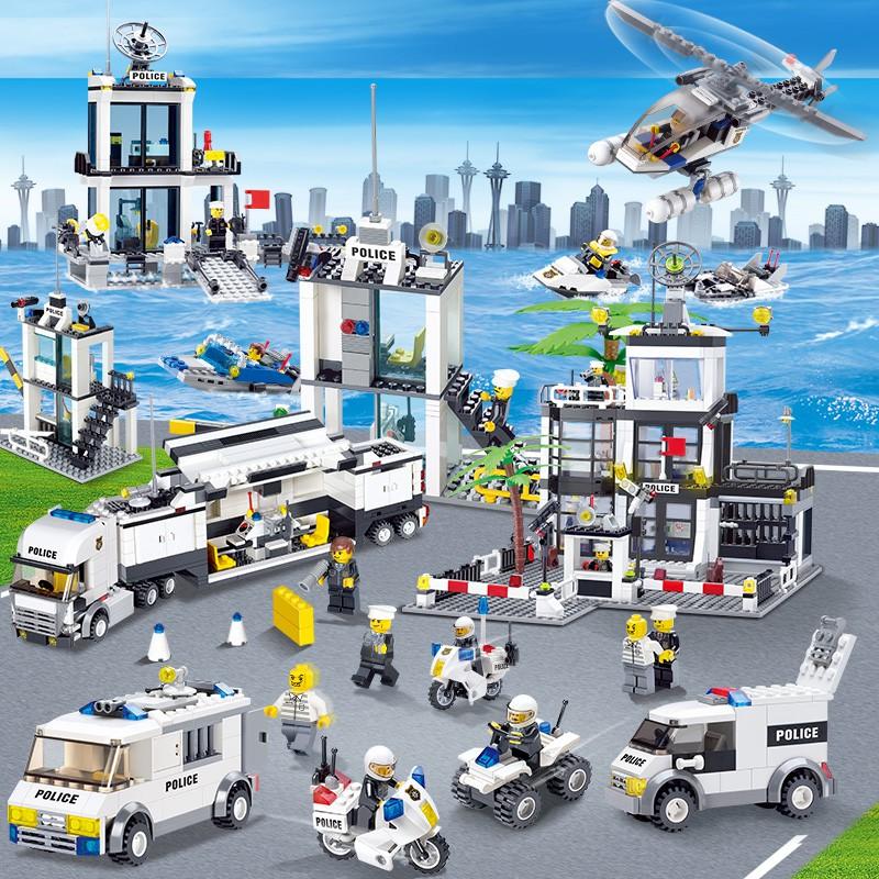 樂高積木男孩子城市警察局系列小學生人仔拼裝益智力兒童動腦玩具