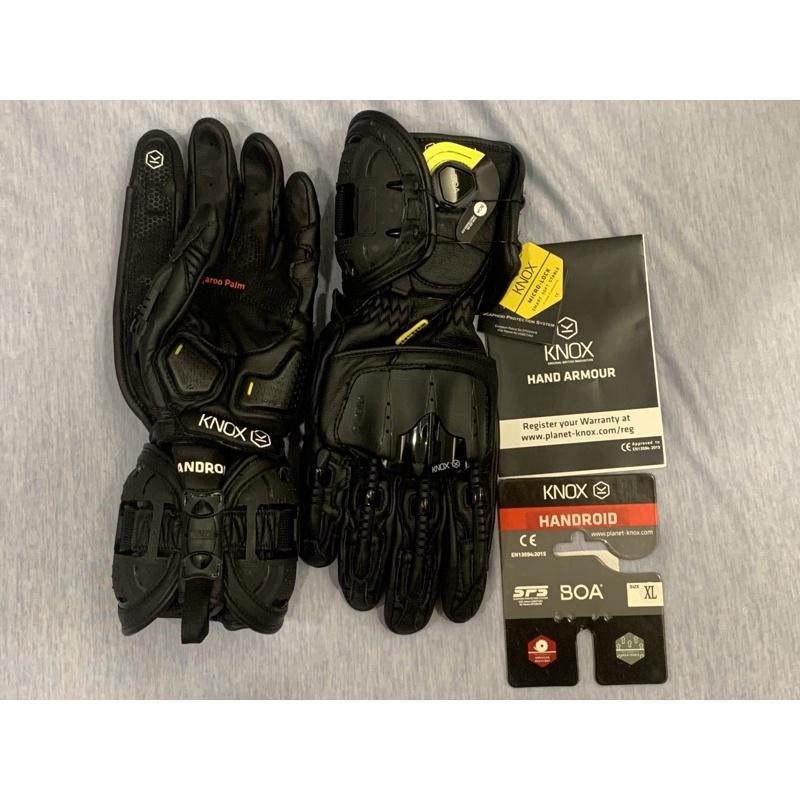 KNOX HANDROID MARK4 黑色 XL 全新 防摔手套 騎車手套