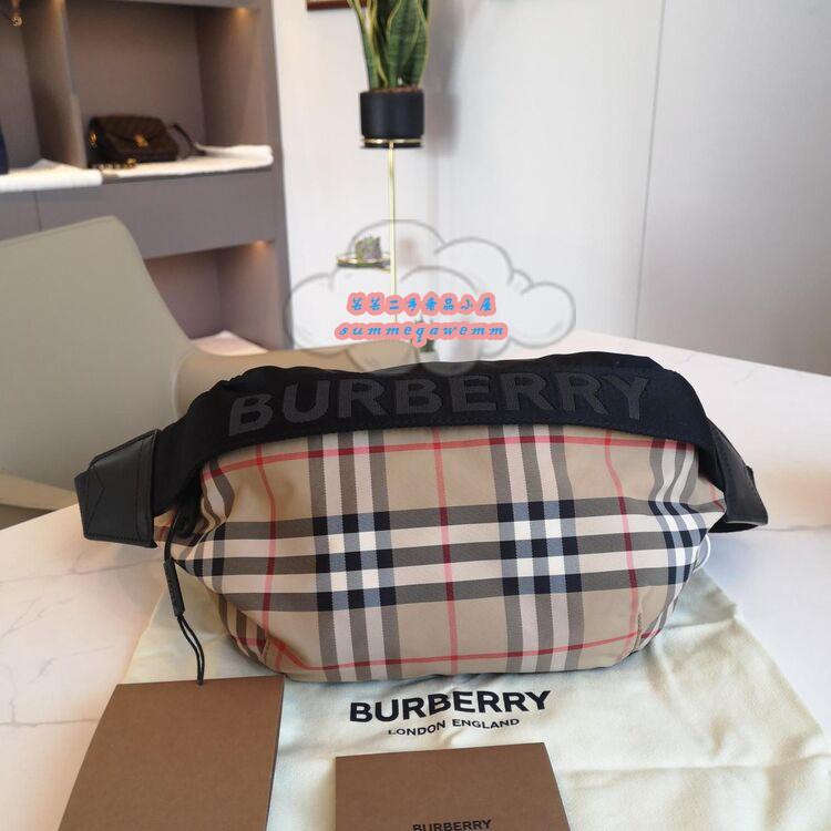 (小芸芸二手)Burberry 博柏利 男女通用 Vintage腰包/胸口包/斜背包/單肩包80265571