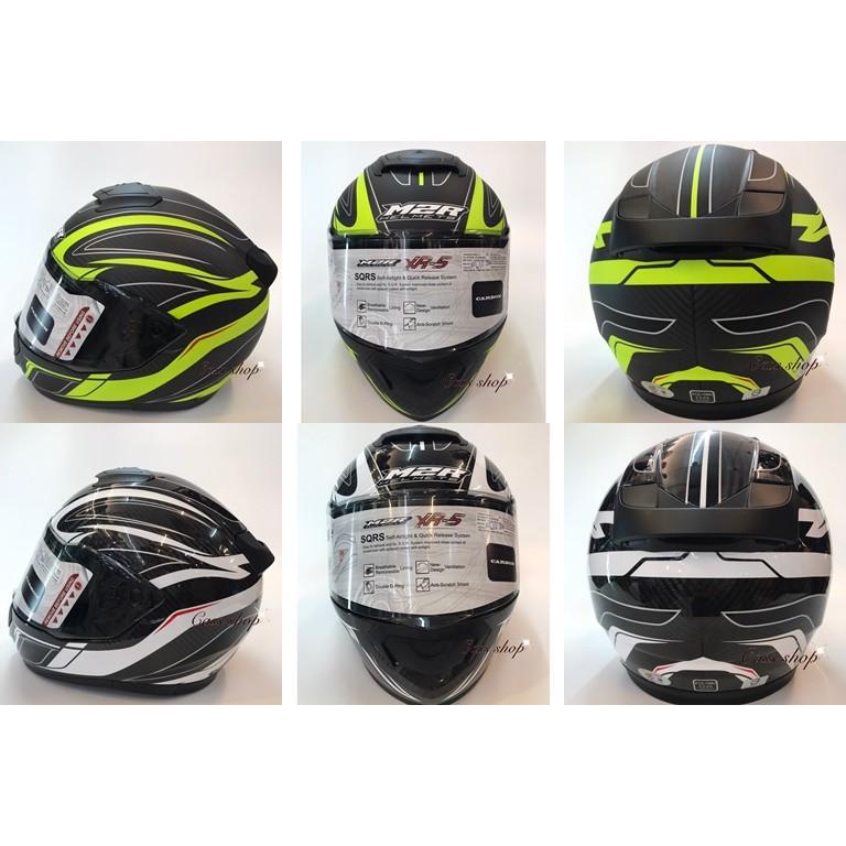 【M2R XR-5 碳纖帽 彩繪全罩 安全帽】買就送【防摔手套/手機支架 】(二選一)