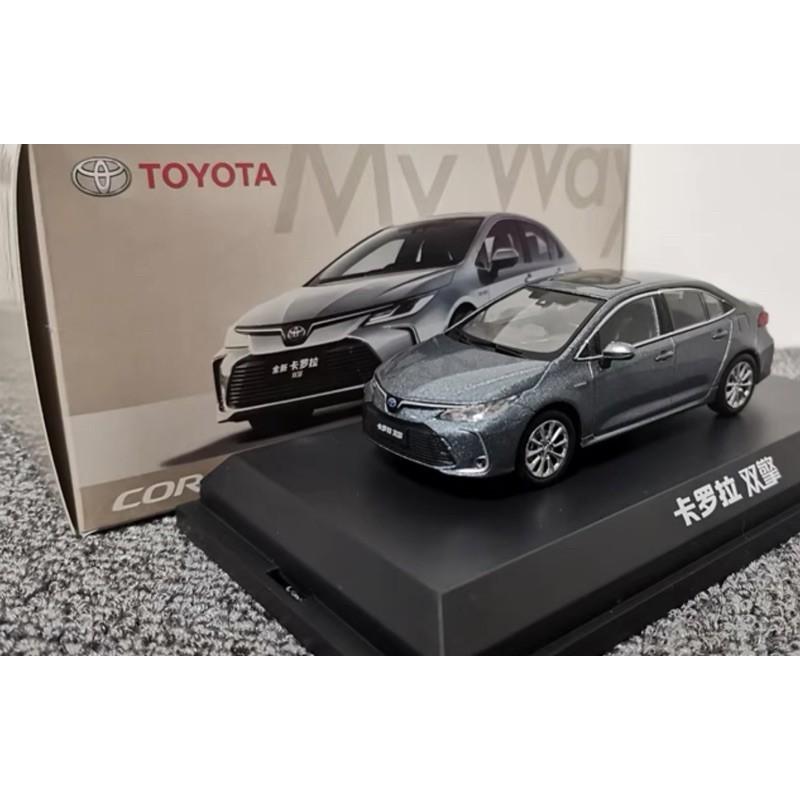 BuyCar模型車庫 1:43 藍曜灰 Toyota Altis 12代 HYBRID 油電模型車