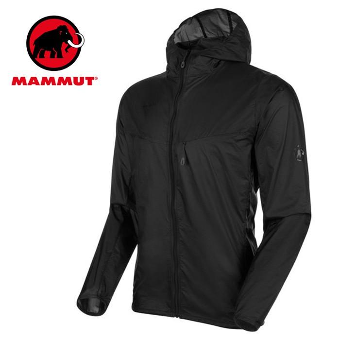 【Mammut 長毛象 瑞士】Convey WB 輕量風衣 運動夾克 男款 黑色 (00190-0001)