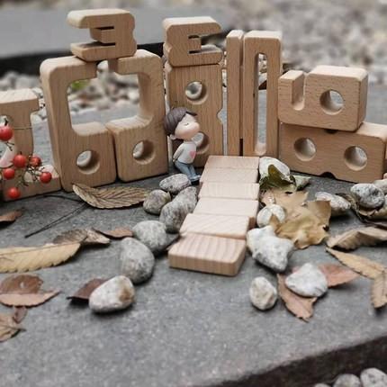 【台灣現貨】Sumblox 大J顆粒木質數學積木兒童邏輯動手動腦早教男孩女孩玩具