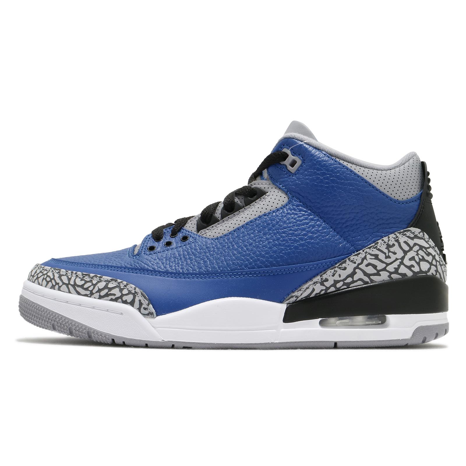Nike Air Jordan 3 Retro 藍 黑 爆裂紋 喬丹 3代 男鞋 【ACS】 CT8532-400