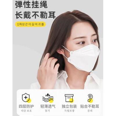 防疫必備 口罩防塵女性白色立體kf94小臉韓國綠色獨立包裝個性成人彩色黑色