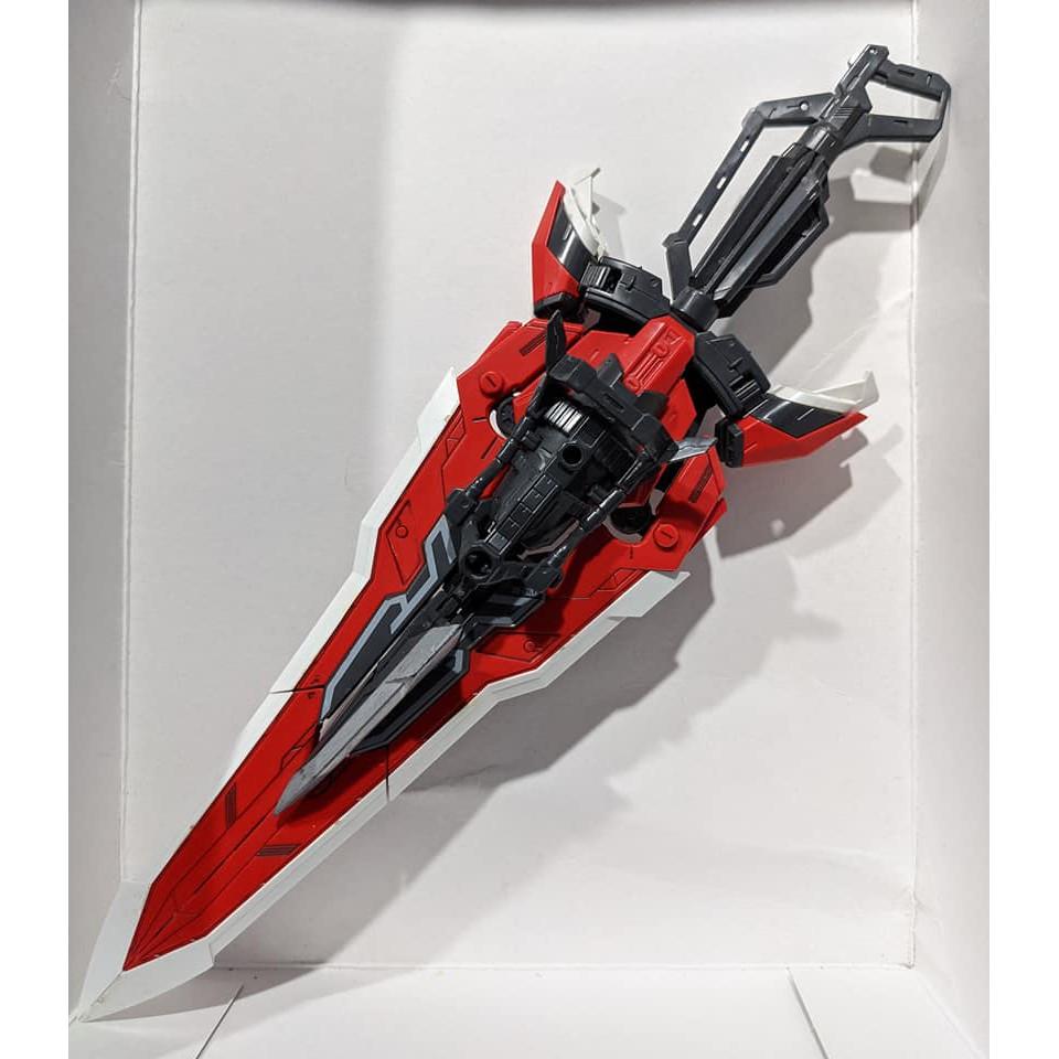 已組 殺肉 萬代 鋼彈SEED MG 1/100 紅異端 紅異端改 大劍 戰術大劍