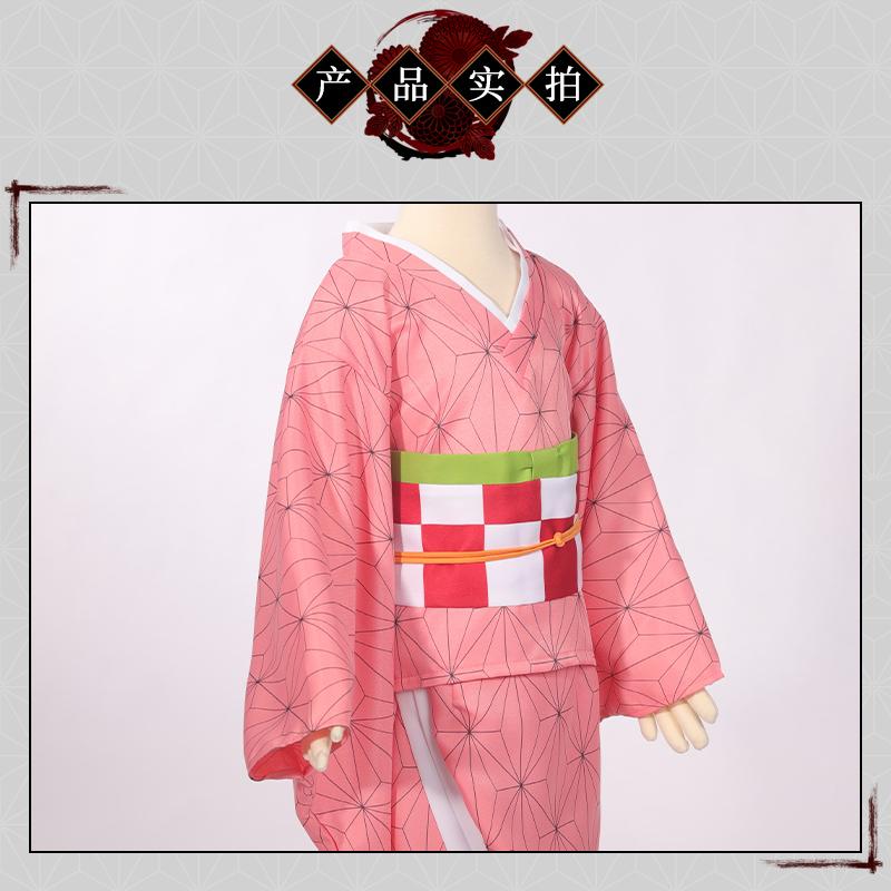 【現貨】兒童款鬼滅之刃灶門禰豆子cos服動漫周邊衣服全套cosplay女彌豆子