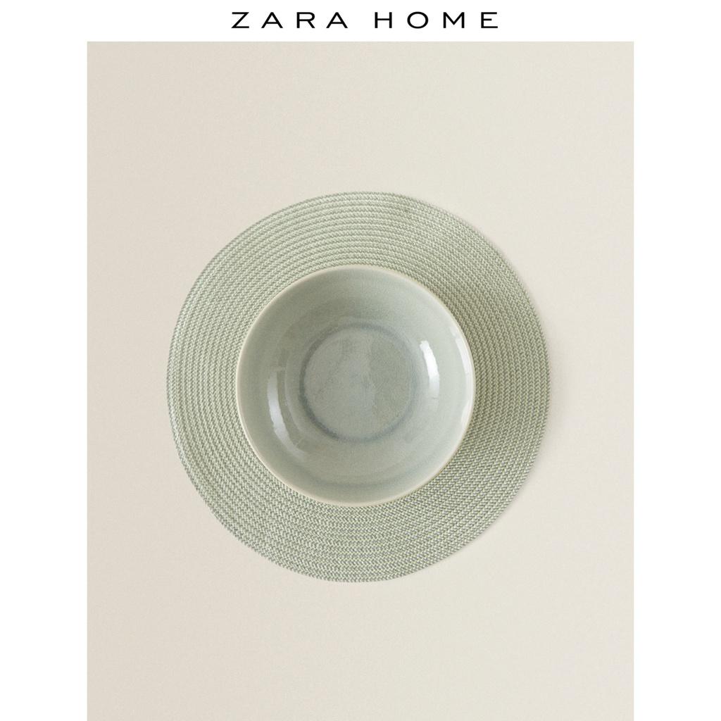 ~熱銷~新款Zara Home 家用北歐風格復古綠色圓形塑料餐墊2件套 44255023527