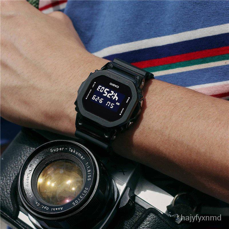 卡西歐G-SHOCK方塊時尚運動手錶男女錶GM-5600-1 5600B S5600PG-4