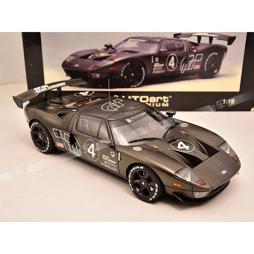奧拓1:18 AutoArt福特FORD GT LM 4號GT40碳纖維車模