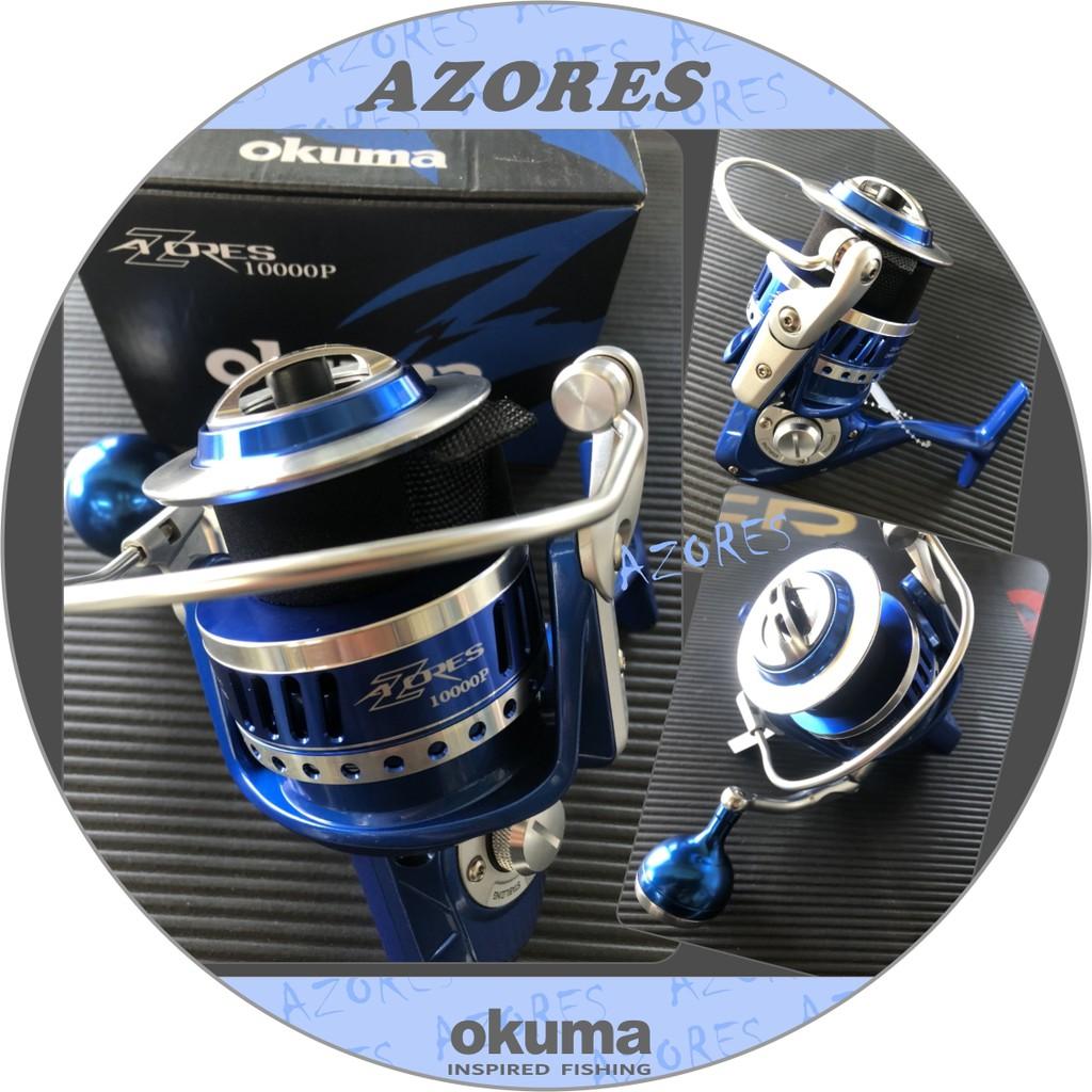 超殺價OKUMA特價 拼經濟AZORES 阿諾捲線器-鋁合金握丸貢丸手把 #5000P~16000P 現貨超殺供應中!