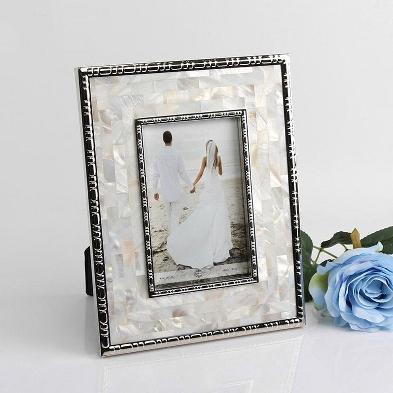 手工製品 工藝品 金屬貝殼相框 相架 歐式家居 飾品 個性 創意裝飾 軟裝 擺件 擺臺 擺飾 居家裝飾 IG拍