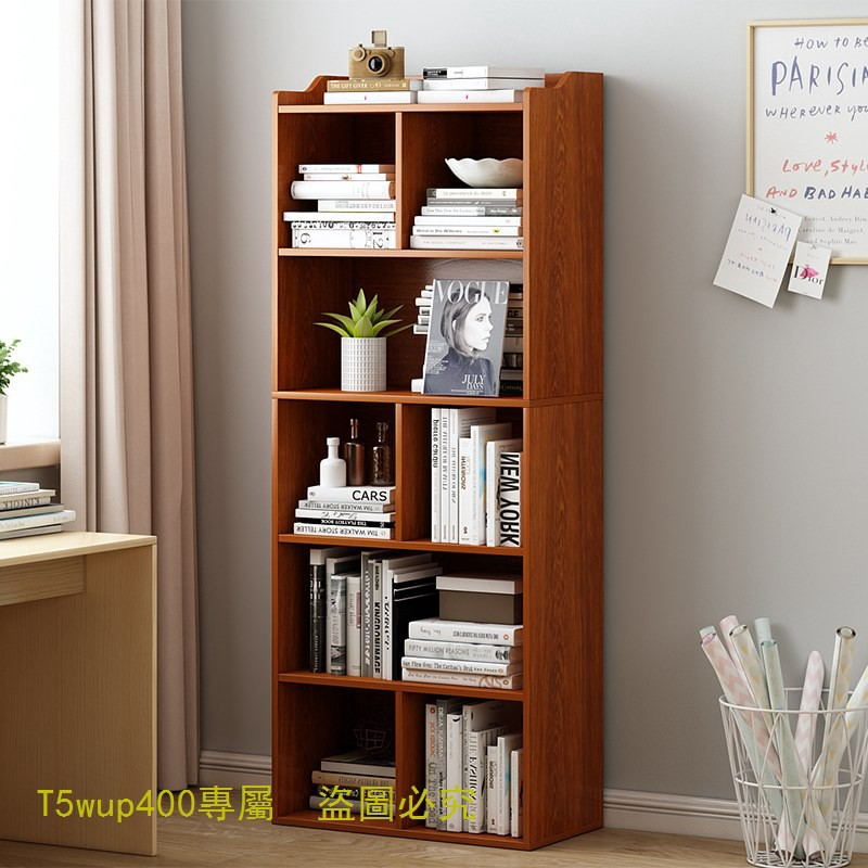 [全館免運]0書架書櫃落地組合櫃簡約客廳收納櫃子家用置物櫃實木小櫃子儲物櫃