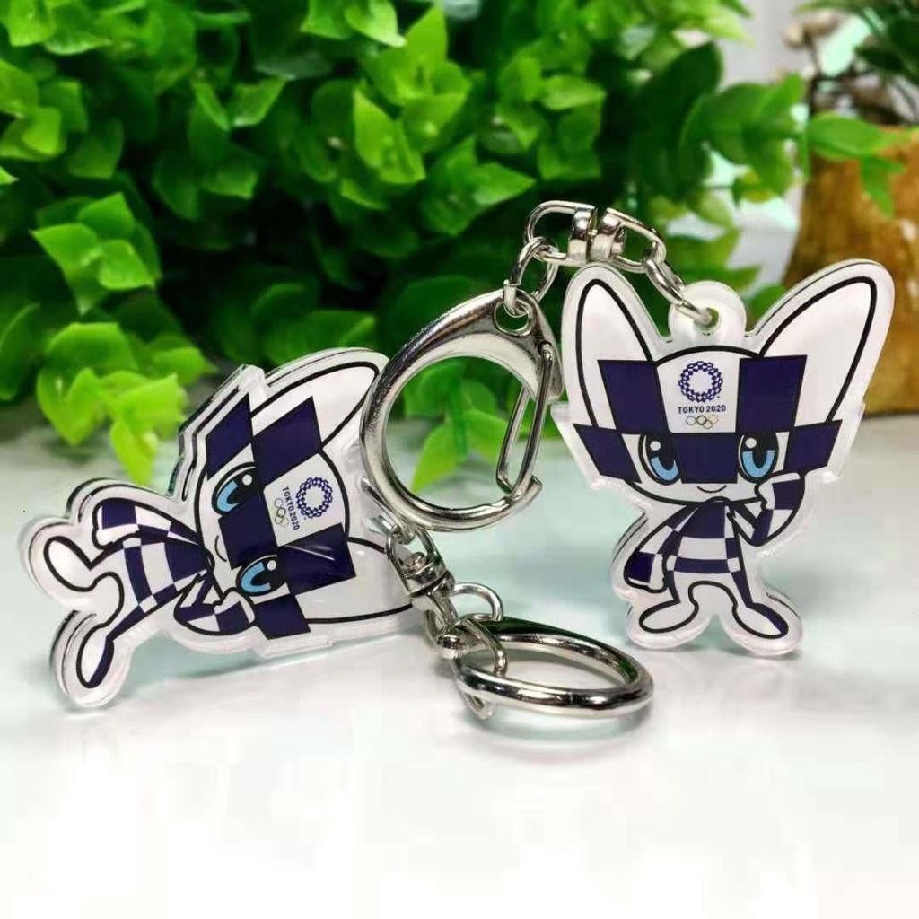 YH 日本東京奧運會鑰匙扣吉祥物2021東京奧運紀念品miraitowa周邊