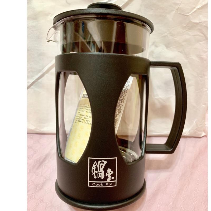 鍋寶時尚沖茶器-耐熱玻璃壺身 304不鏽鋼